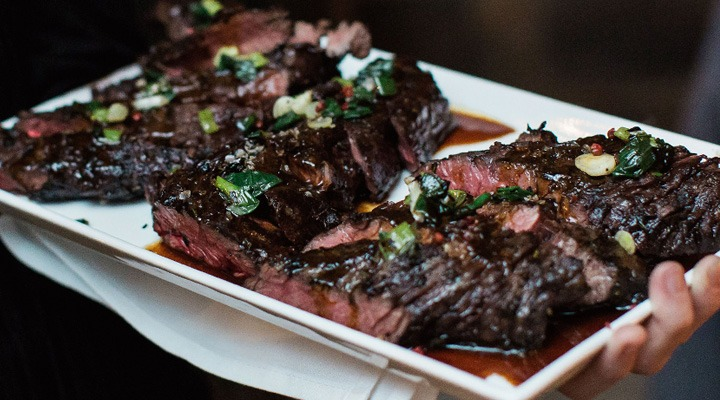 District Winery Grilled Hanger Steak